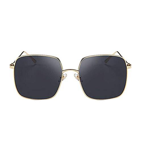 BoburyL Frauen-Mädchen-Quadrat Sonnenbrille großer Rahmen Rund Gesicht Brillen Sommer-Art-Brillen HD-Objektiv