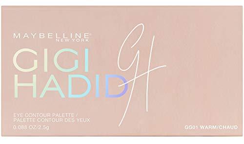 Maybelline New York Collezione Gigi Hadid East Coast Glam Look Palette Ombretti per Contouring Occhi in Edizione Limitata, Warm