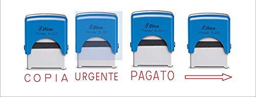 Timbro Shiny Printer - Timbro Autoinchiostrante,S-222 (PAGATO)