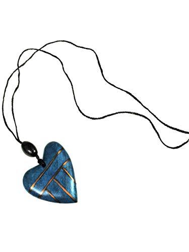 Simone Erto Damen Halskette HK-18 blau -