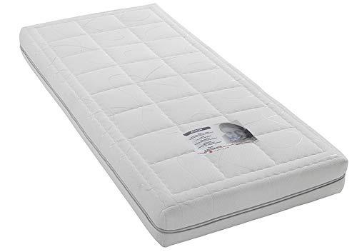 Ordpro, Time Pocket matratze, Tonnentaschenfederkern, 90x200cm, medium H3, Weiss
