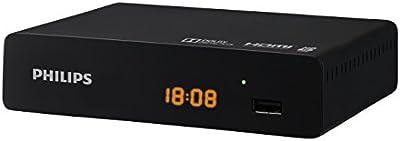 Philips DTR3000 - Sintonizador DVB-T2 HD (HDMI, USB), color negro