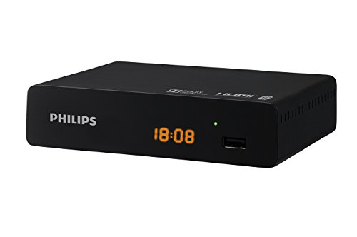 Philips DTR3000 - Sintonizador DVB-T2 HD (HDMI, USB), color negro