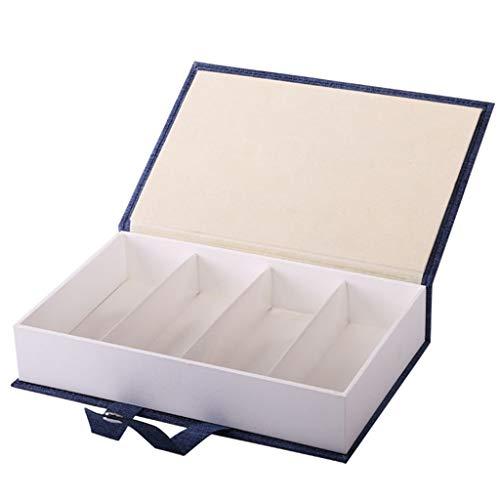 TTLOVE Tragbare BuchföRmige GläSer Sonnenbrille Display Sammlung Box Spectacle Aufbewahrungskoffer, Sonnenbrillen-Organisationskoffer Aufbewahrungsbox Storagebox Schrankbox Sortierkiste