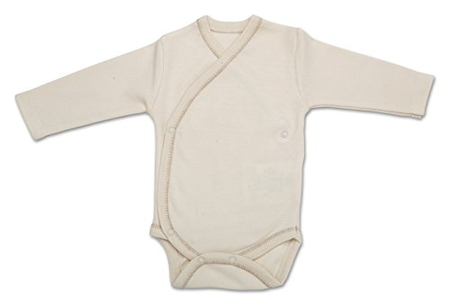 The Dida World Narinan Kimono–Body in cotone organico a maniche lunghe, misura: 0mesi, colore: beige