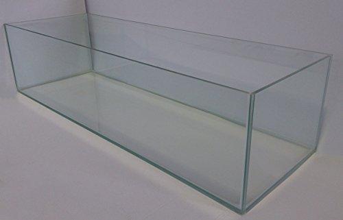 Aquarium Glasbecken Pool 100x40x30 cm, rechteck, 120 Liter Becken transparent verklebt