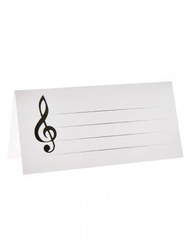 NEU Tischkarten Musiknoten, 3x7 cm, 10 ()