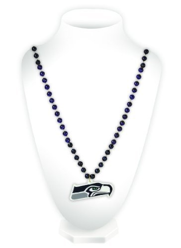 Unbekannt NFL Perlen mit Medaillon, Seattle Seahawks - Seahawks-schmuck Seattle