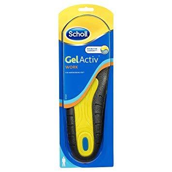 Scholl Einlegesohlen Vorteilspack GelActiv Work Schuhsohle Einlage (Größe 40-46.5) 4er Pack (4x 1 Paar)