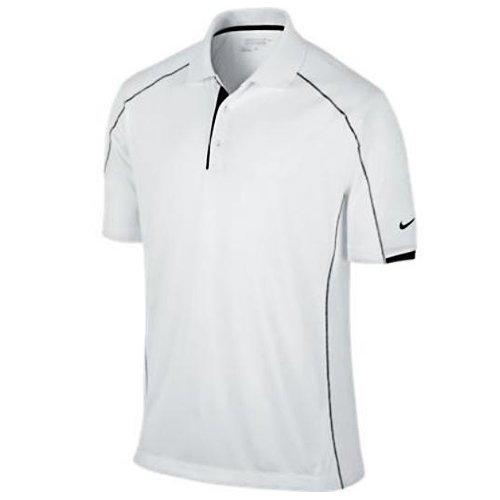 Nike Golf Men's Tech Core Color Block Polo White/Black//Black M - Nike Tech Core