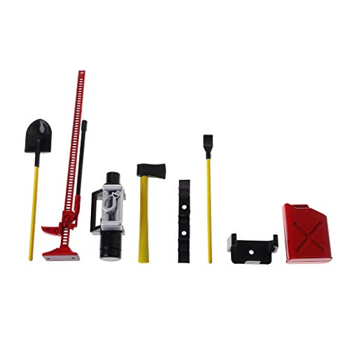 Senoow 6Pcs RC Dekoration Tools Set Kit für 1:10 Rock Crawler Truck Autoteile