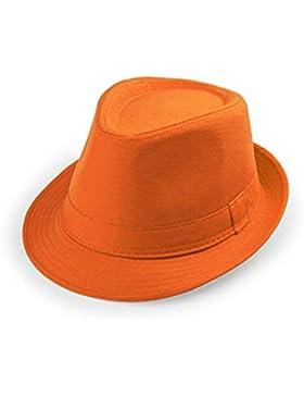 verano unisex Panamá Hat - fedora / sombrero flexible playa cap gángster (naranja)