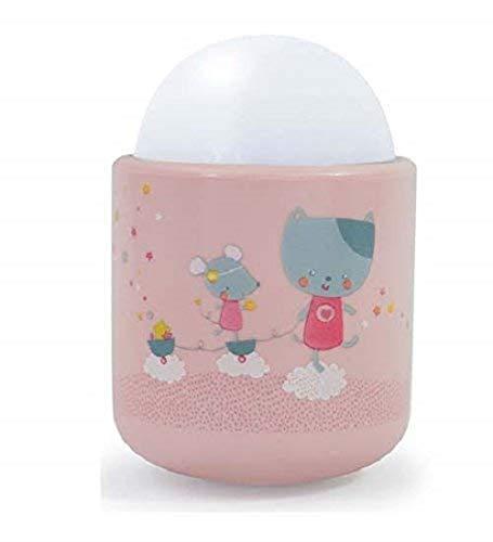 Pabobo - Lolabella - Veilleuse Portable LED à Lumière Douce pour Bébé et Enfant - Rechargeable - 70 heures d'autonomie sans pile ni fil - Rose
