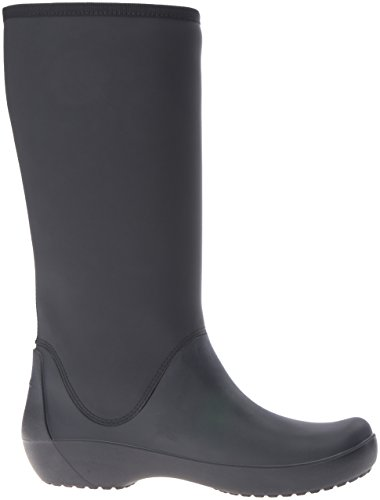 Crocs Women Rainfloetallbt Rubber Boots Black (nero)