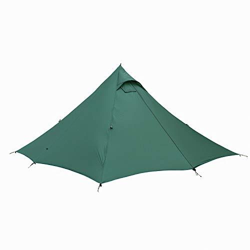 OneTigris  Black Orca Chimney Tipi Zelt mit Herd Loch, 2 Personen Smokey Hut Zelt 2-Türer Doppeltes Shelter Wasserdicht für Trekking Camping Outdoor
