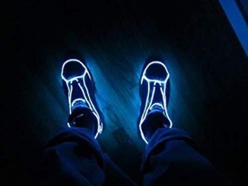 Amicc® Tragbare 5m Neonlicht EL Draht mit Akku Neon leuchtende Strobing Elektrolumineszenzdraht für Parteien, Halloween…