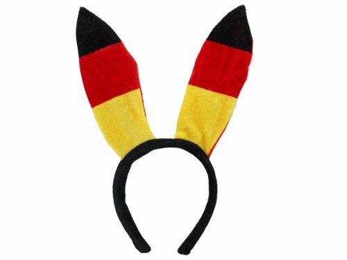 Alsino Deutschland Fanartikel Fan-Artikel Fußball EM WM Hut Brille Perücke Fahne, Fanartikel wählen:Bunnyohren
