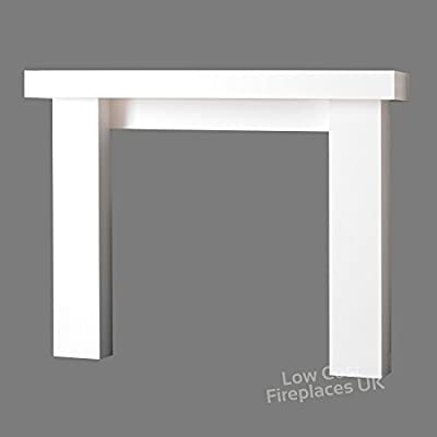 Gas or Electric Modern White Mantel Mantle Surround Fireplace Fire Suite Big Large