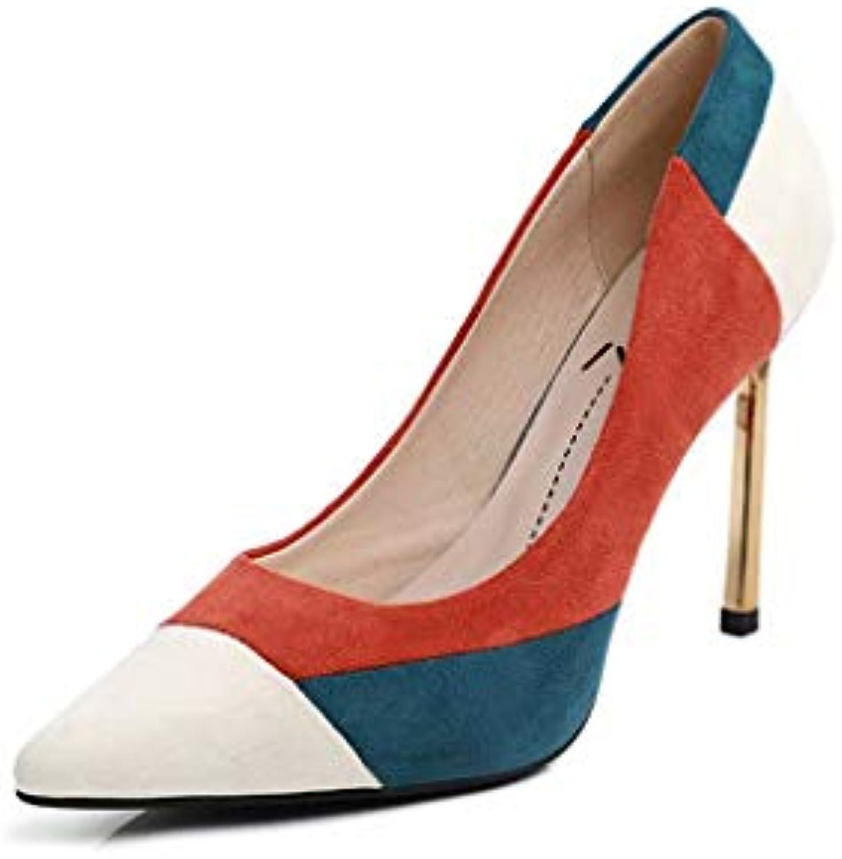 purchase cheap ff8a6 4e906 YZ-scarpe Tacco Alto in in in Pelle Scamosciata Arancione Abbinata a Sexy  Singolo Versatile con Scarpe da Donna a Spillo...   Nuovo design diverso    Sig Sig ...