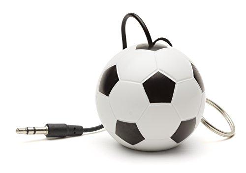 KitSound Mini Buddy Universal Lautsprecher mit 3,5mm Klinkenstecker und USB-Ladekabel Kompatibel mit Smartphones, Tablets und MP3 Geräten wie iPhone, iPad, iPod Nano 7, iPod Touch 5, Samsung Galaxy, Galaxy Note, Galaxy Tab, Xperia, HTC One/One M8 und Google Nexus 5/7/10 - Fussball (ohne Verpackung) Iphone Ipod Nano Mp3