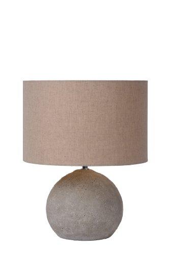 lucide-71540-81-41-lampada-da-tavolo-boyd-in-calcestruzzo-e-tessuto-colore-talpa