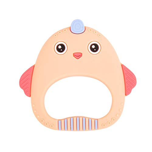 Bebé Mordedor silicona juguete pollo forma juguetes