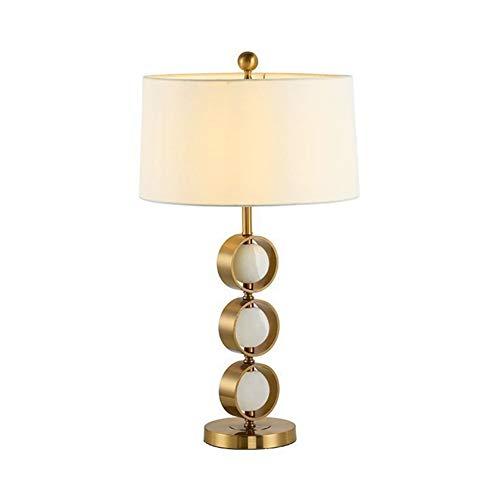 AIZYR E27 Jade Bälle Tischlampe Modern Kreativ Für Hotel Schlafzimmer Wohnzimmer Nachttisch Dekoration Stoff Metall Marmor Schreibtisch Lampen Höhe 63CM - Jade-glas-schreibtisch