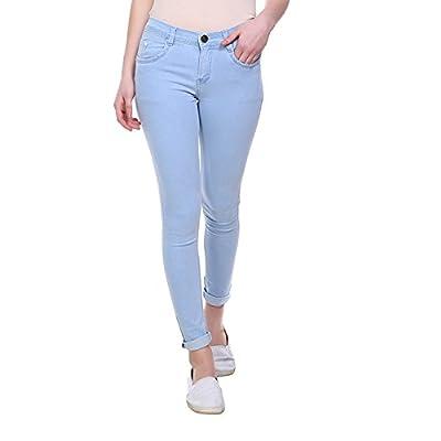 Pantoff Women's Slim Fit Light Blue Jeans