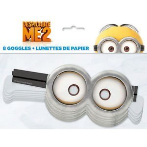 Despicable Me 2 Minions Party Supplies 8 Paper Googles Mask by Party Supplies (Me 2 Supplies Despicable Party)