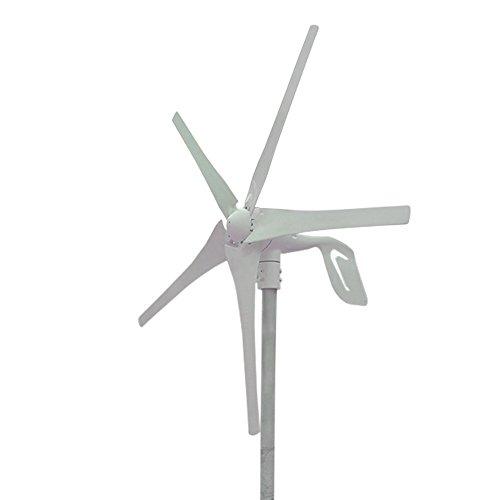 HUKOER 400W Windkraftanlage 24V Windgenerator Windkraftgenerator Turbine 5 Blades niedrige Windgeschwindigkeit Wasserdichte Windkontroller Start