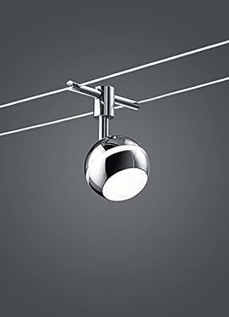 Lampe lED à 4 spots pour rail 5 x 3 diodes bALOUBET de 8 w longueur 5 m 778210506 max