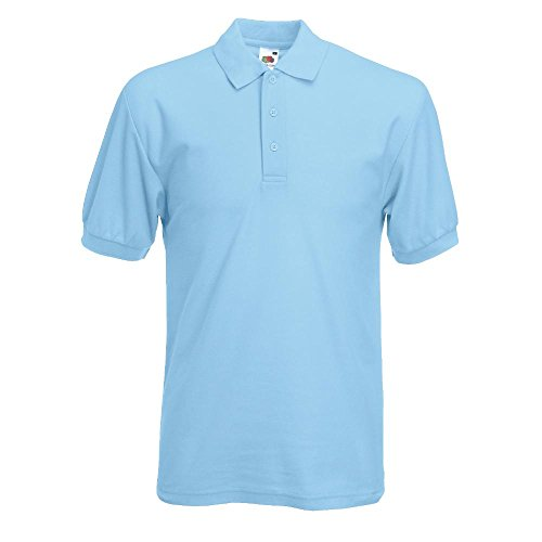 Fruit of the Loom - Piqué Polo Mischgewebe / Sky Blue, XXL XXL,Sky Blue