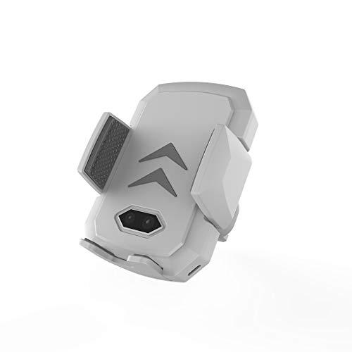 FBGood 2-in-1 Qi Automatischer Infrarotsensor Kabellos Ladegerät, Auto Drahtlose Handy Ladestation Halterung Multifunktional KFZ Wireless Handy Ladegerät Handyhalter für Telefon (Weiß)