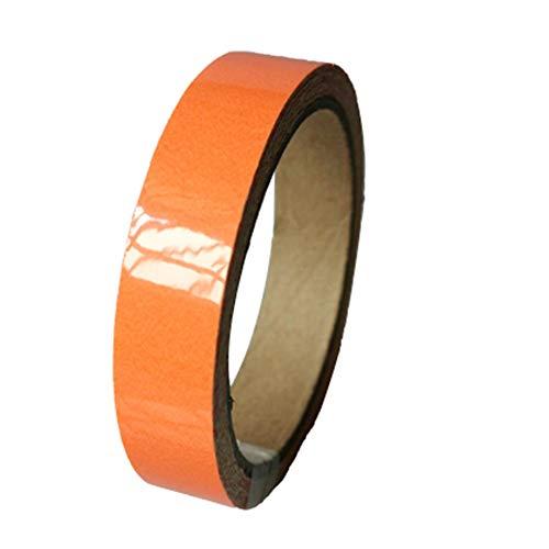 Orange Glow Tape Sicherheitsaufkleber Leuchtendes Klebeband Fluoreszierender selbstklebender Aufkleber Bühnendekoration Nachtleuchtendes Klebeband - Orange 2CMx1M (Eingang Tape)