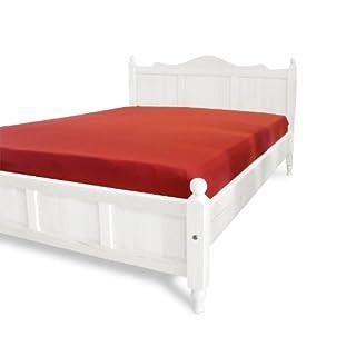 Bett Holzbett Doppelbett DIMO 160 x 200 Kiefer massiv weiß lackiert