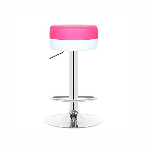 YSDHE Hochhocker Barhocker Rezeption Stuhl Empfangsstuhl kann montiert Werden und kann bis zu 70-90 cm hoch gedreht Werden (Farbe : Rosa) (Rosa Antiker Stuhl)