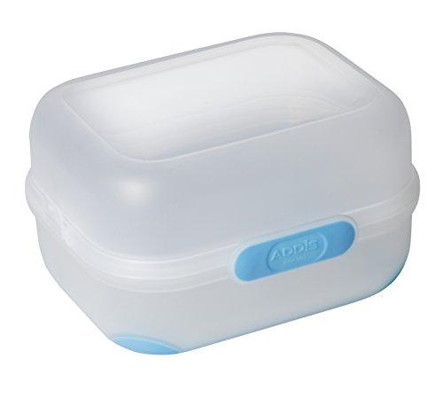 Addis, Clip and Go, Duo-Lunchbox, Butterbrotdose, Blau, 1600ml, Plastik, blau, 14 x 17.5 x 9.5 cm Addis Clip