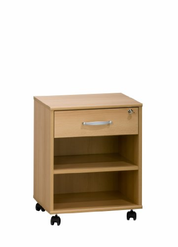 Maja 40255531 Cassettiera a rotelle in finto legno di faggio, 465x591x360 mm