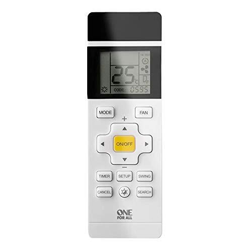 Alle Fernbedienungen (One For All - Universelle Fernbedienung für die Klima-Anlage - mit LCD-Schirm- weiß - URC1035)