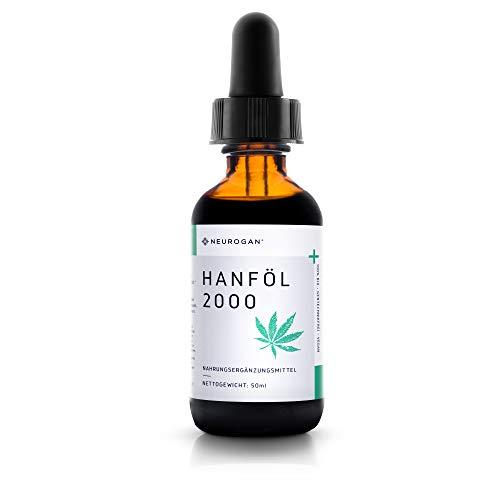 NEUROGAN´s 2000 MG Hanföl/gesund, natürlich, vegan, glutenfrei - Mint-Geschmack (50ml) / natürlich THC-frei