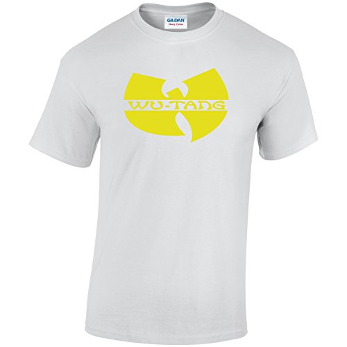 Inspiriert WU-TANG CLAN Logo Design TShirt Erwachsene & Kinder Unisex T-Shirt Weiß - Weiß