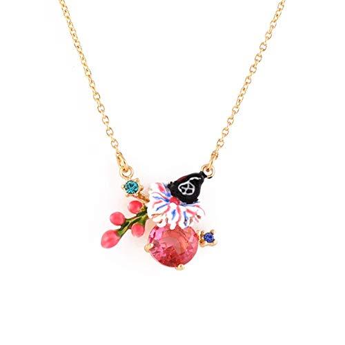 nuova stagione nuova versione lusso Delicate girl Stile Francese Semplice Di Fiori Di Seta Butterfly Ruby Silk  Flower Collana Catena Clavicola