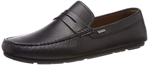 Tommy Hilfiger Herren Classic Leather Penny Loafer Slipper Schwarz (Black 990) 44 EU