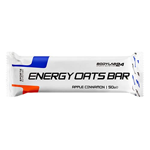 Bodylab24 Energy Oat Bar, Geschmack Apfel-Zimt, schnell verfügbare Energie für dein Training, Box 12 x 75 g, 780 g - Zimt 12 Bar