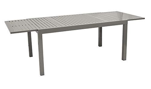 DEGAMO Ausziehtisch Ravello 160/240x100cm, Aluminium grau, wetterfest