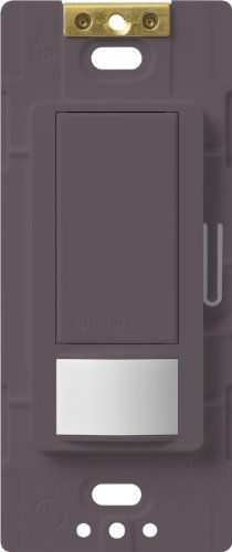 Lutron Maestro Motion Sensor switch, no neutral required, 600 Watts Single-Pole/Multi Location, MS-OPS5M-PL, Plum by Lutron -