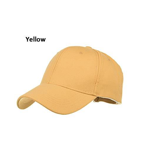 HGYIO Jungen Mädchen Weiß Baseball Cap Verstellbare Cap gelb
