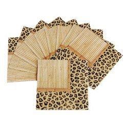 Leopard Print - Bamboo Safari Cocktail Napkins by TikiZone -