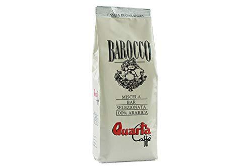 QUARTA Caffè miscela BAROCCO, ROSSA, AVIO, STUOIA, SERENO DECAFFEINATO macinato 250g - Fine blend of coffee processed in Salento, Apulia,...