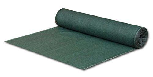 Bradas AS-CO13515025GR Sichtschutz – Zaunblende – Staubschutz – Schattiergewebe, 1,5 x 25 m, dunkelgrün
